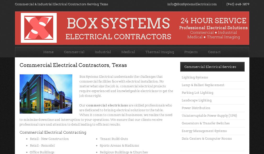 Electrical Contractor Website Design