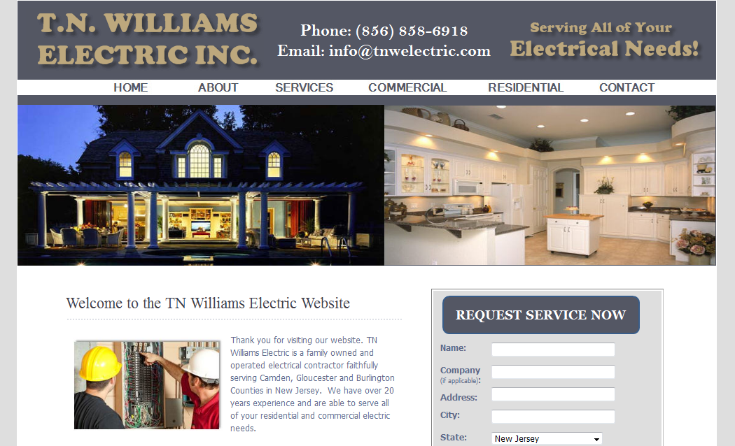 Electrical Contractor Websites - New Jersey