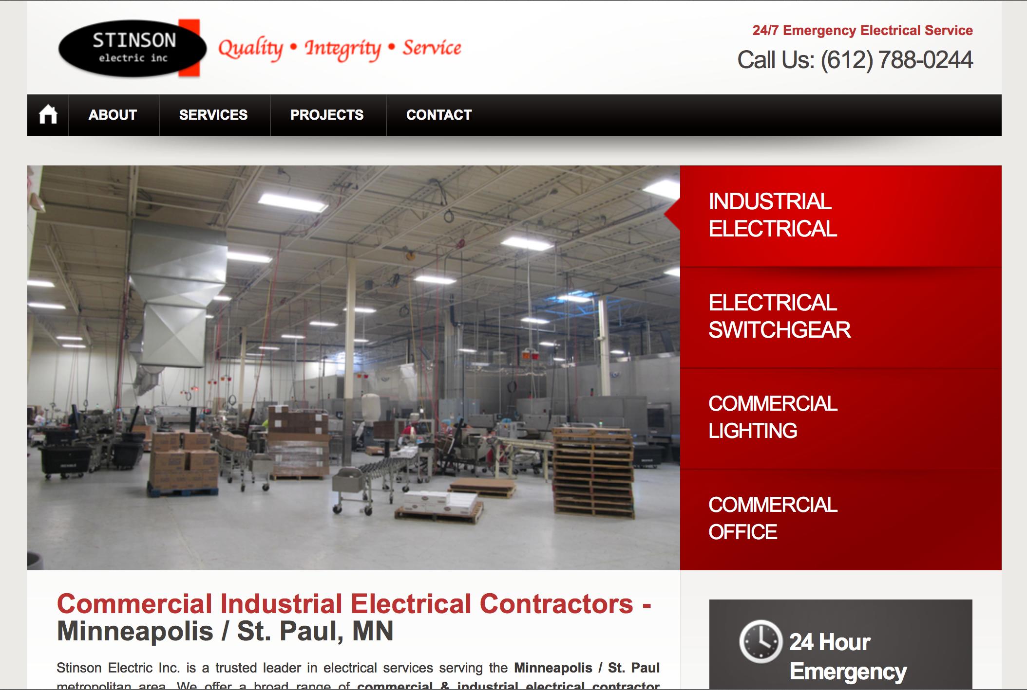 Electrical Contractors Website Design