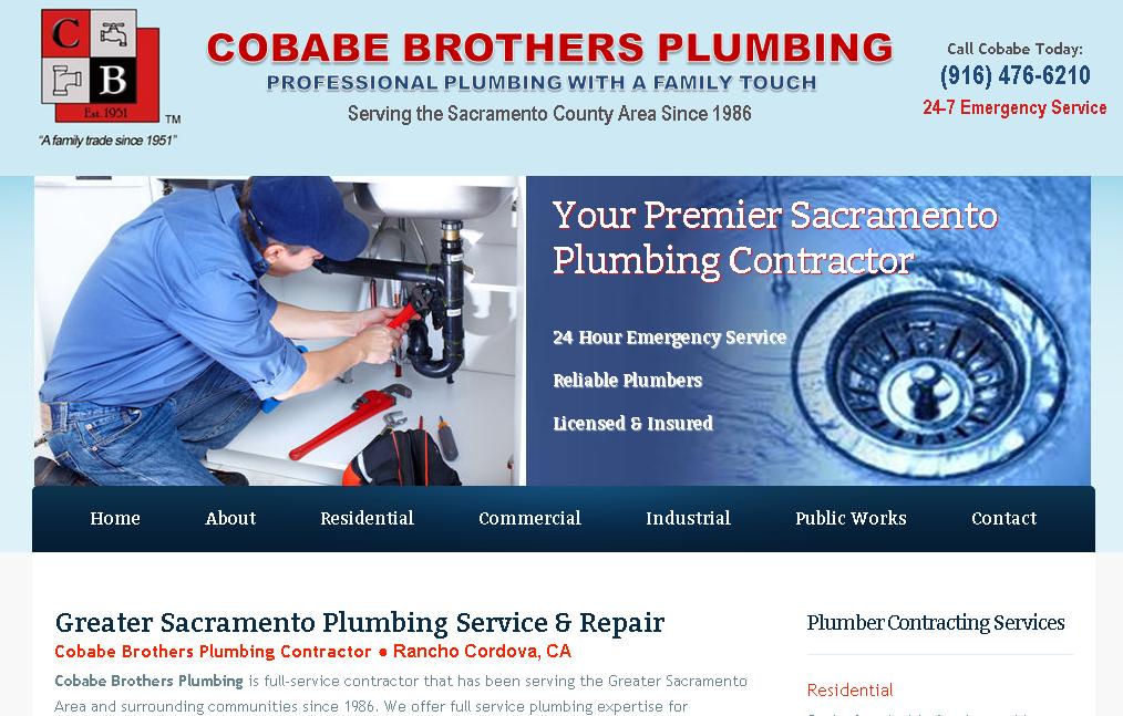 Plumber Plumbing Contractor Website Design