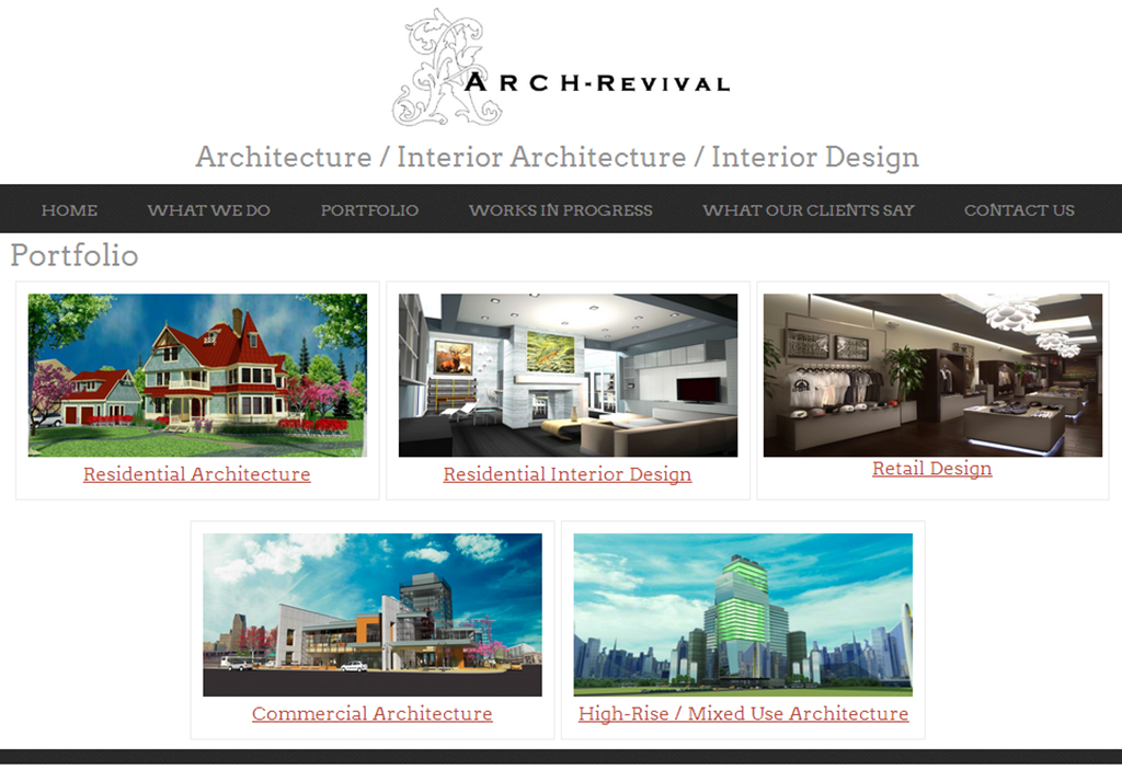 Architecture and interior design websites minimalist for Websites for interior designers