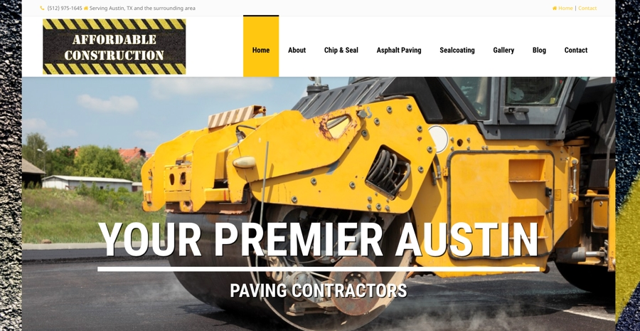 Asphalt Paving Contractor Website Design