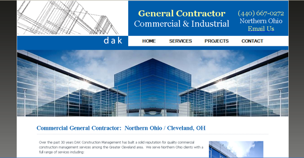 Commercial Construction Contractor Websites