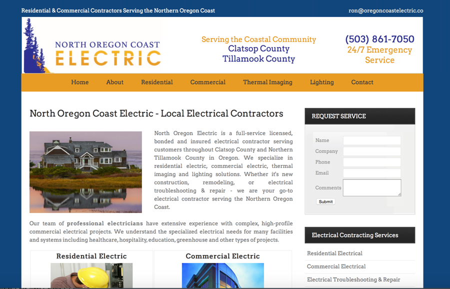 Commercial Electrical Contractor Website Design