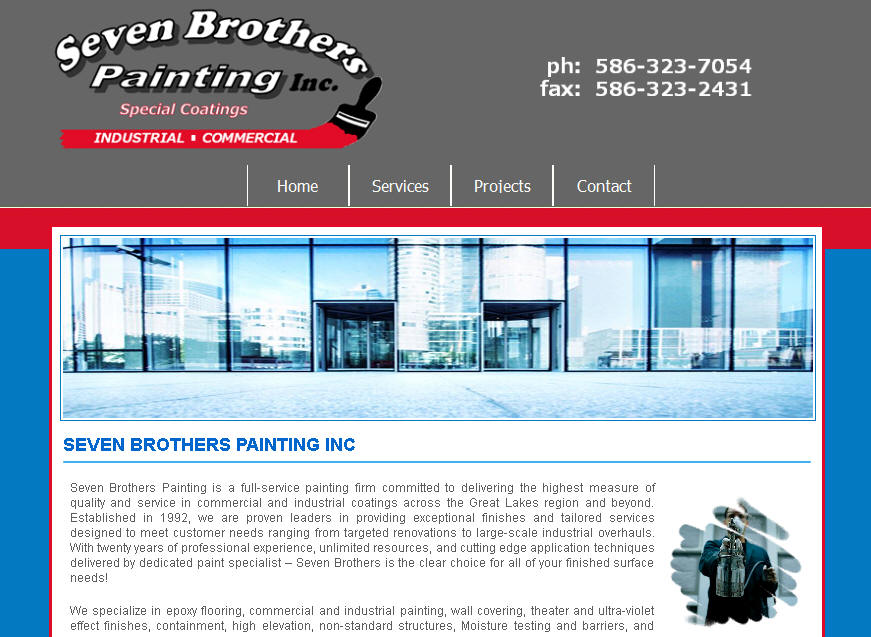 Commercial Industrial Painting Contractor Websites