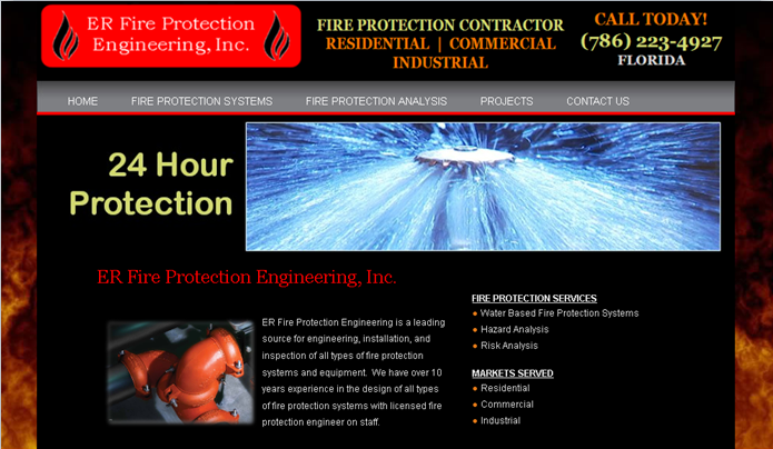 Fire Protection Contractor Websites