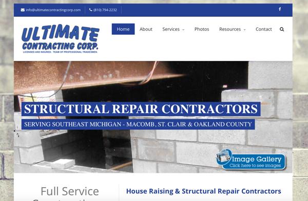 Foundation Contractor Website Design