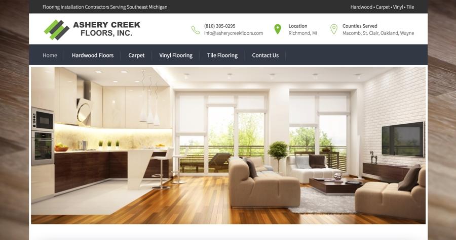 Hardwood Flooring Contractor Website Design