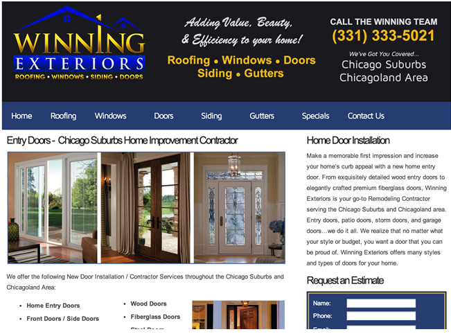 Home Improvement Contractor Websites