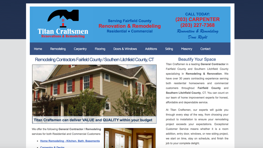 Home Remodeler Website Design