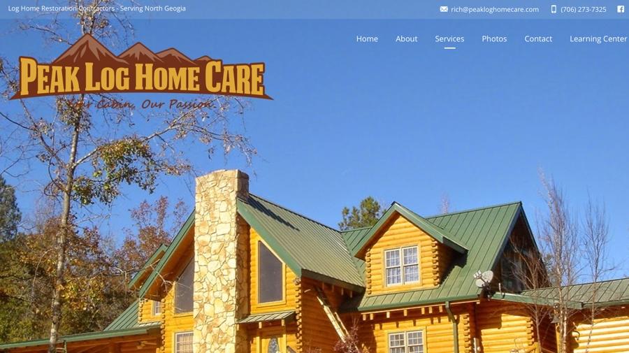 Log Home Restoration Contractor Website Design