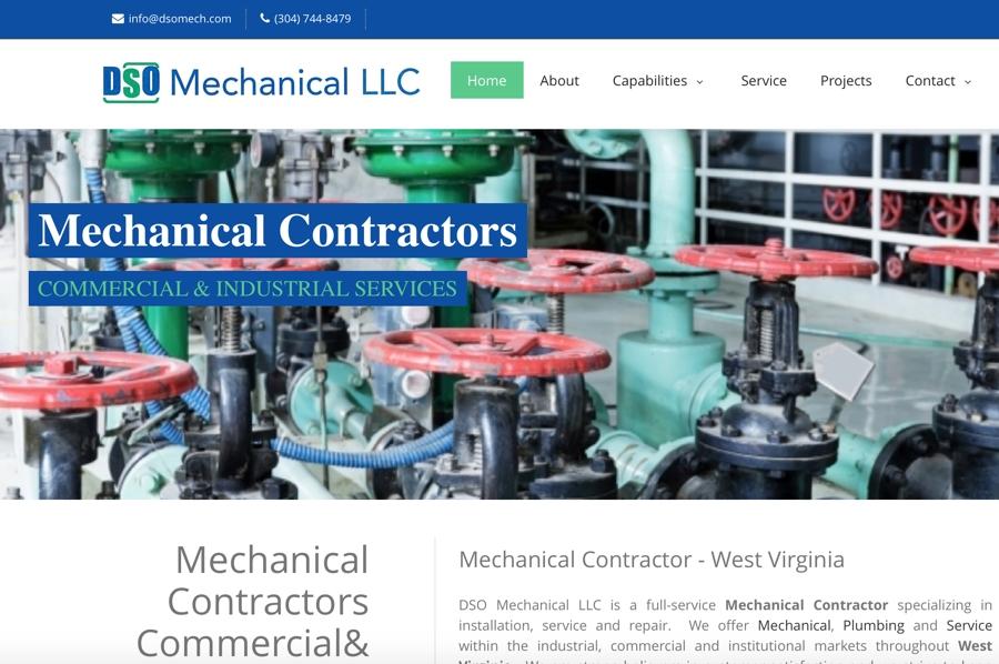 Mechanical Contractor Website Design