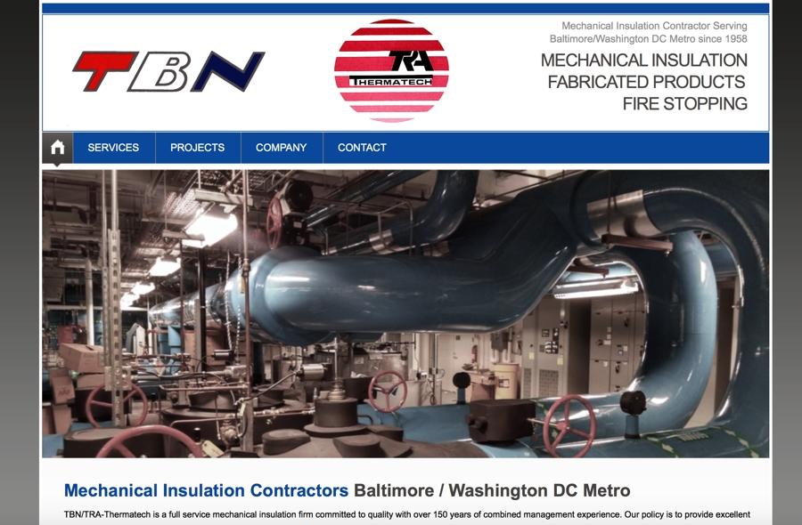 Mechanical Insulation Contractor Website Design
