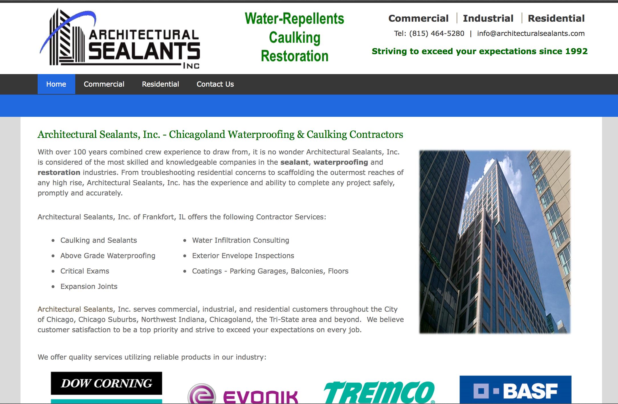 Waterproofing Website Design