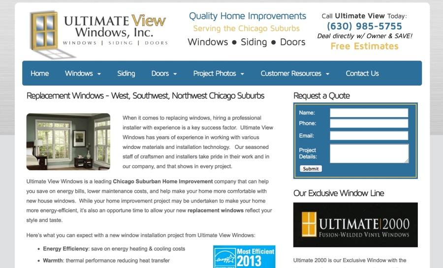 Window Contractor Website Design
